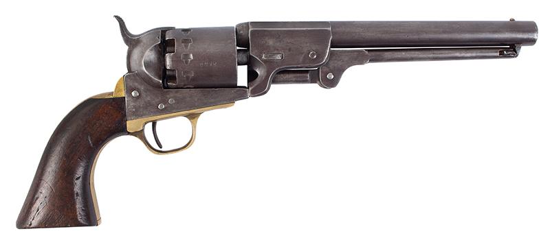 Rigdon & Ansley Confederate Revolver, Serial Number 2136, right facing