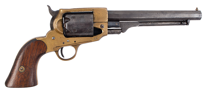 Spiller & Burr Confederate Revolver, Important Collection History, right facing