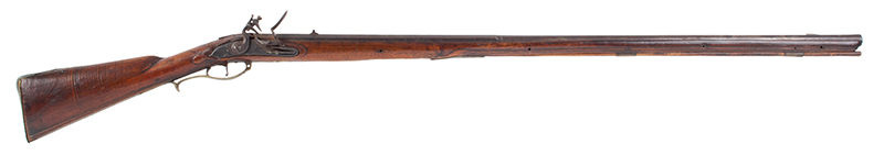 Kentucky Style Rifle, Possibly One of the Earliest Known, Original Flint, American Stocked Possibly Eastern Pennsylvania, right facing