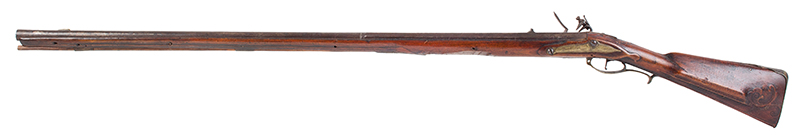 Kentucky Style Rifle, Possibly One of the Earliest Known, Original Flint, American Stocked Possibly Eastern Pennsylvania, left facing