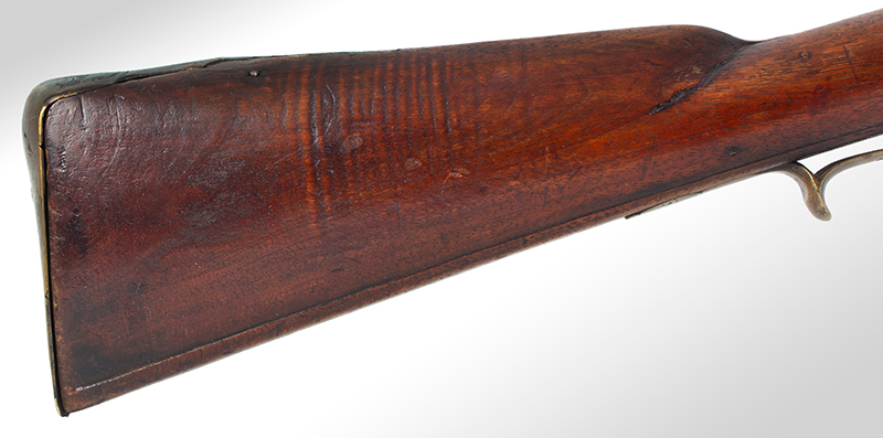 Kentucky Style Rifle, Possibly One of the Earliest Known, Original Flint, American Stocked Possibly Eastern Pennsylvania, stock
