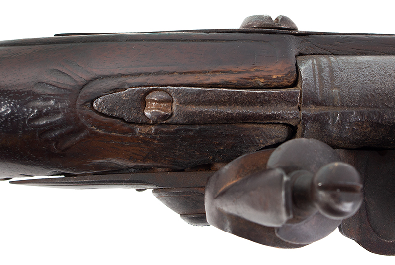 Kentucky Style Rifle, Possibly One of the Earliest Known, Original Flint, American Stocked Possibly Eastern Pennsylvania, tang