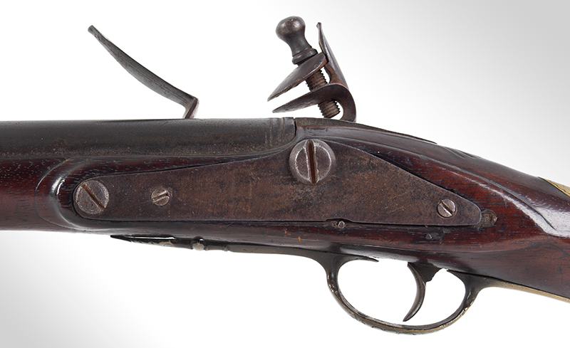 Kentucky Style Rifle, Possibly One of the Earliest Known, Original Flint, American Stocked Possibly Eastern Pennsylvania, side plate