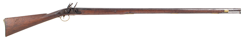 New England Flintlock Militia Musket by Tarrat & Rack Number Matched Bayonet, right facing
