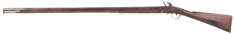 New England Flintlock Militia Musket by Tarrat & Rack Number Matched Bayonet, left facing