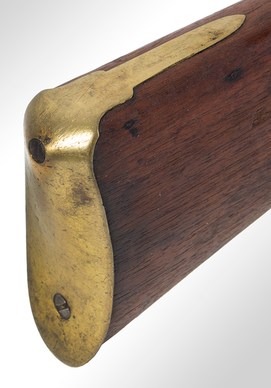New England Flintlock Militia Musket by Tarrat & Rack Number Matched Bayonet, butt plate