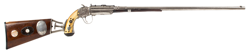 The Fine and Rare Whitmore Buggy Rifle, Outstanding  Nathaniel Whitmore & Son, Nathaniel Gilbert Whitmore  Mansfield, Massachusetts, right facing