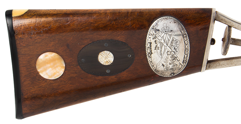 The Fine and Rare Whitmore Buggy Rifle, Outstanding  Nathaniel Whitmore & Son, Nathaniel Gilbert Whitmore  Mansfield, Massachusetts, stock facing right