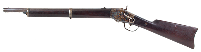 Lamson & Co., Ball Repeating Carbine, .50 Caliber, SPECTACULAR Windsor, Vermont Seven shot repeater, lever action; total manufactured: 1,000., left facing
