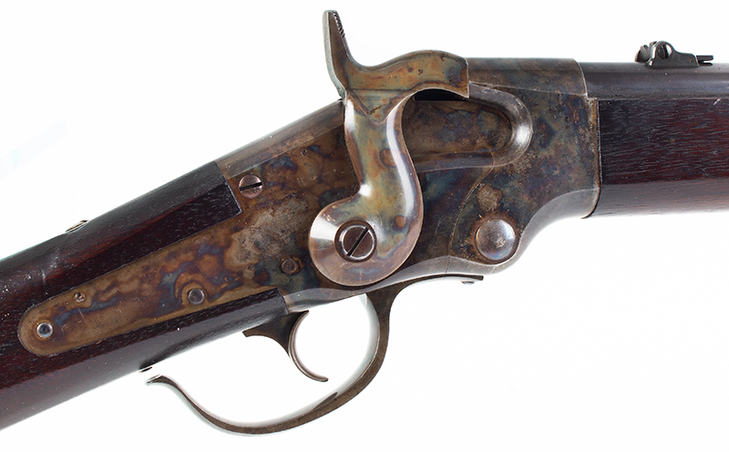 Lamson & Co., Ball Repeating Carbine, .50 Caliber, SPECTACULAR Windsor, Vermont Seven shot repeater, lever action; total manufactured: 1,000., lock plate