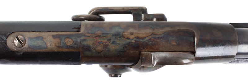 Lamson & Co., Ball Repeating Carbine, .50 Caliber, SPECTACULAR Windsor, Vermont Seven shot repeater, lever action; total manufactured: 1,000., tang