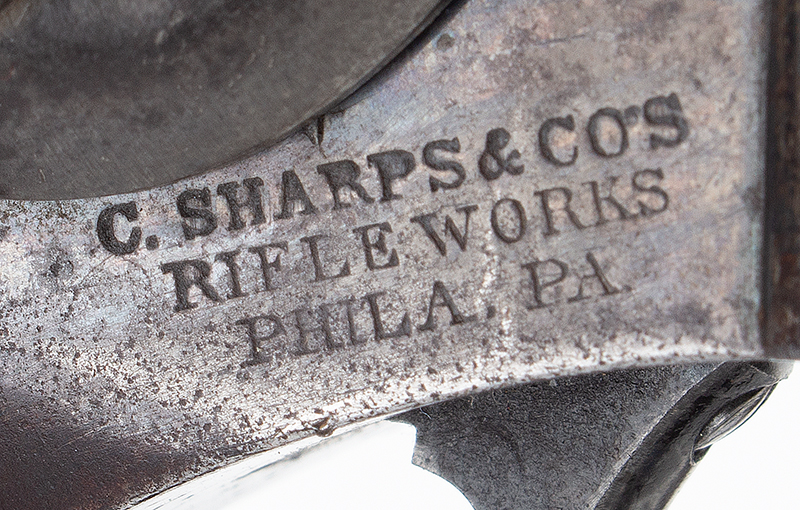 Sharps 2nd Type Single Shot Pistol, Model 1854 Breech Loading, .36 Caliber Serial Number 786, detail view 5