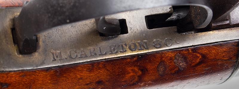 Percussion Underhammer Pistol by M. Carleton & Co., .40 Caliber Haverhill, New Hampshire, address