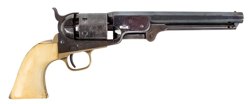 Colt Model 1851 Navy revolver, right facing
