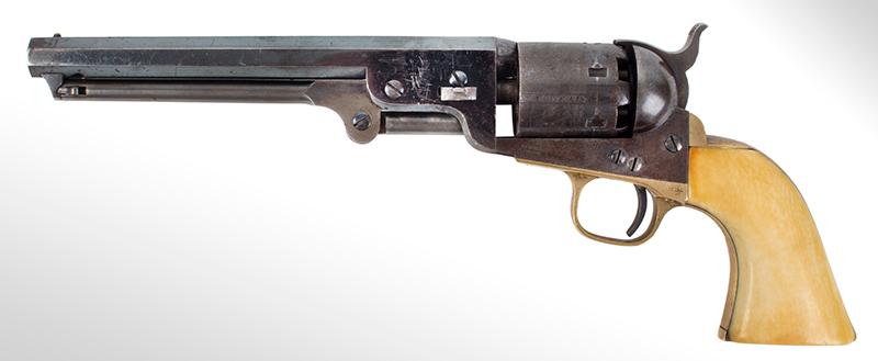 Colt Model 1851 Navy revolver, left facing