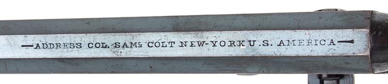 Colt Model 1851 Navy revolver, address
