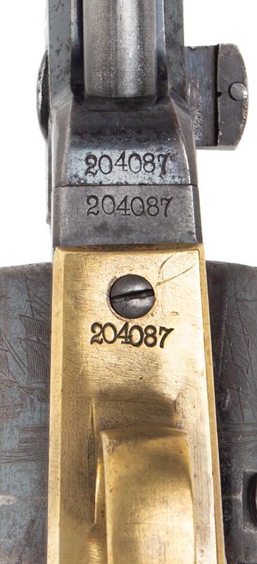 Colt Model 1851 Navy revolver, serial numbers