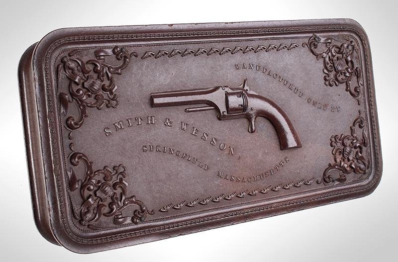 Smith & Wesson's 1st Model Revolver Union Gutta Percha Case, SCARCE, entire view