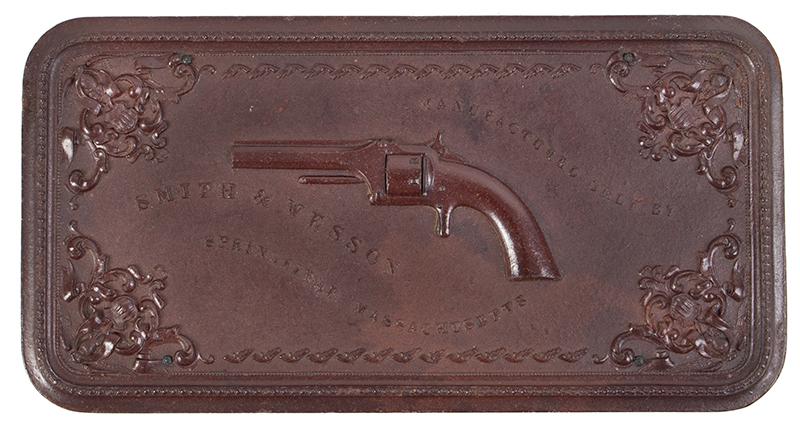 Smith & Wesson's 1st Model Revolver Union Gutta Percha Case, SCARCE, entire view 2