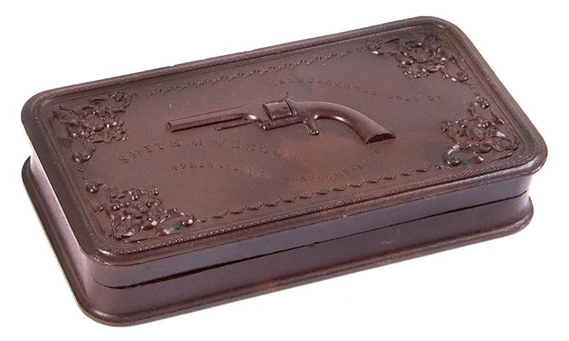 Smith & Wesson's 1st Model Revolver Union Gutta Percha Case, SCARCE, entire view 3