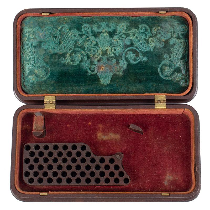 Smith & Wesson's 1st Model Revolver Union Gutta Percha Case, SCARCE, interior