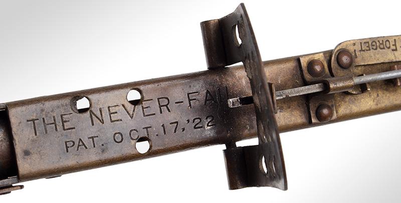 The Never-Fail Gopher Trap Gun, Firearm Curiosa, Seldom Seen, detail view 1