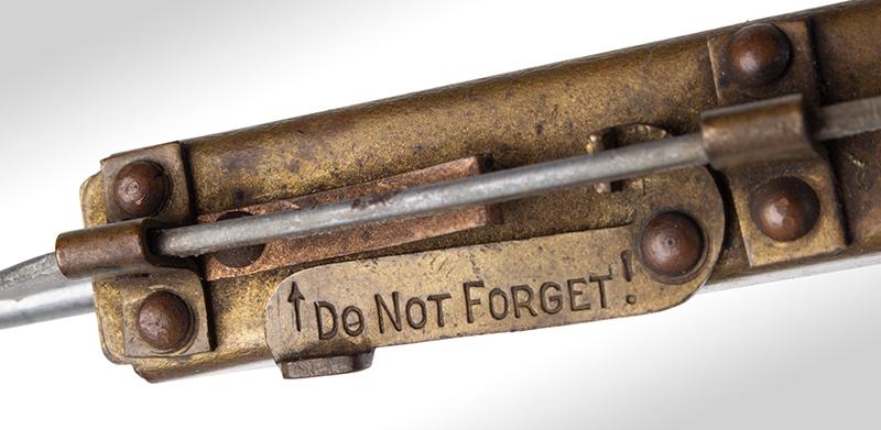 The Never-Fail Gopher Trap Gun, Firearm Curiosa, Seldom Seen, detail view 2
