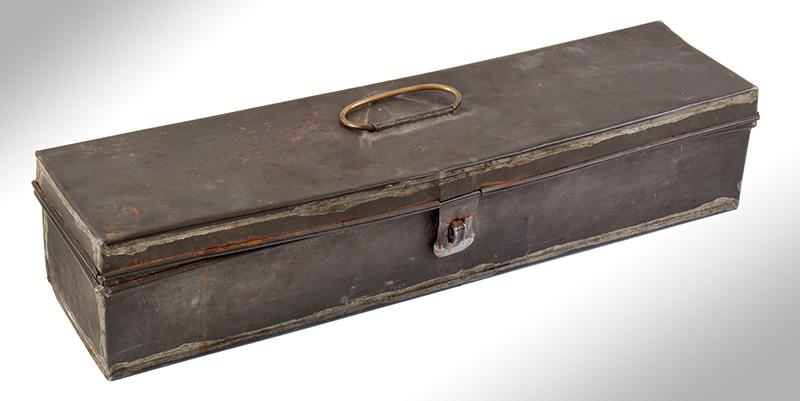 William Billinghurst Jr., Buggy Rifle, Shooter's Box, Detachable Stock & Accessories Medium Frame, 10-inch .28-caliber barrel, no serial number…, case view