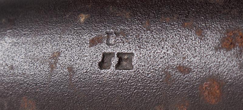 Model 1840 U.S. Flintlock Musket, Daniel Nippes, Mill Creek, Pennsylvania 42-inch .69-caliber single shot muzzleloader finished bright., mark
