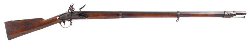 Model 1840 U.S. Flintlock Musket, Daniel Nippes, Mill Creek, Pennsylvania 42-inch .69-caliber single shot muzzleloader finished bright., right facing