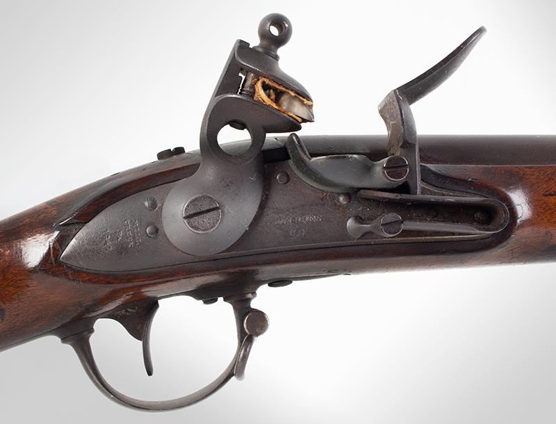 Model 1840 U.S. Flintlock Musket, Daniel Nippes, Mill Creek, Pennsylvania 42-inch .69-caliber single shot muzzleloader finished bright., lock plate