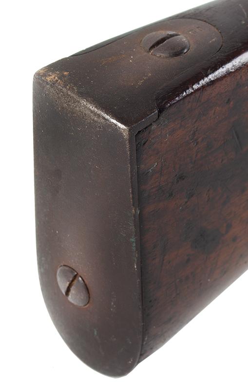 Model 1840 U.S. Flintlock Musket, Daniel Nippes, Mill Creek, Pennsylvania 42-inch .69-caliber single shot muzzleloader finished bright., butt plate