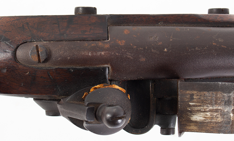 Model 1840 U.S. Flintlock Musket, Daniel Nippes, Mill Creek, Pennsylvania 42-inch .69-caliber single shot muzzleloader finished bright., tang