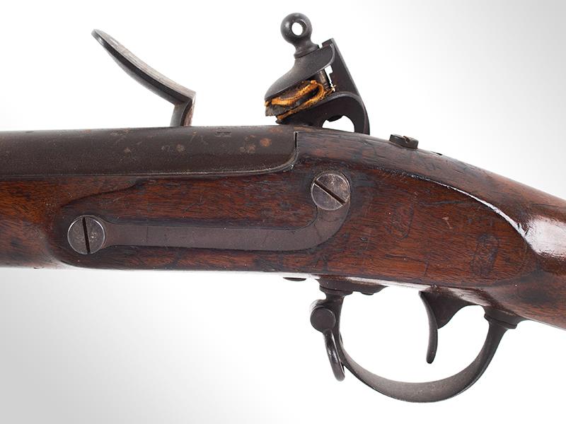 Model 1840 U.S. Flintlock Musket, Daniel Nippes, Mill Creek, Pennsylvania 42-inch .69-caliber single shot muzzleloader finished bright., side plate