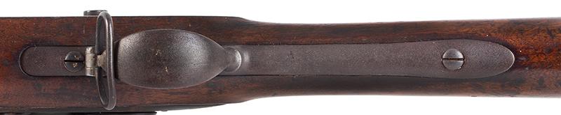 Model 1840 U.S. Flintlock Musket, Daniel Nippes, Mill Creek, Pennsylvania 42-inch .69-caliber single shot muzzleloader finished bright., trigger guard