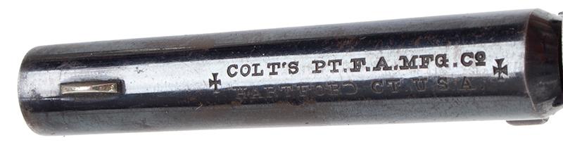 Colt Open Top Pocket Model Revolver, address