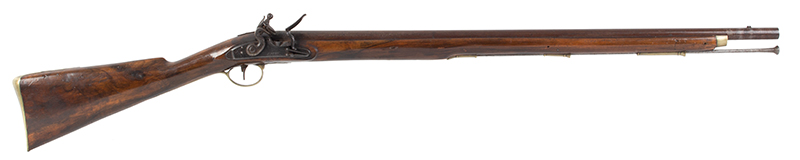 Volunteer Flintlock Carbine, Lockplate Signed James / London, .65 Caliber Made for Private Sale…a Clean Example., right facing