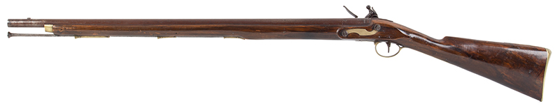 Volunteer Flintlock Carbine, Lockplate Signed James / London, .65 Caliber Made for Private Sale…a Clean Example., left facing