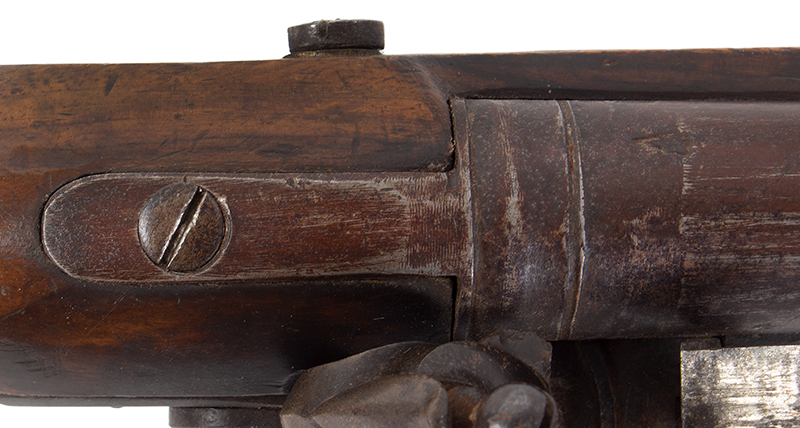 Volunteer Flintlock Carbine, Lockplate Signed James / London, .65 Caliber Made for Private Sale…a Clean Example., tang