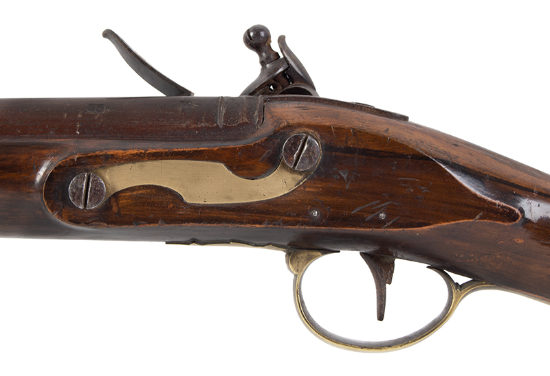 Volunteer Flintlock Carbine, Lockplate Signed James / London, .65 Caliber Made for Private Sale…a Clean Example., side plate