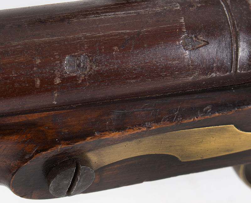 Volunteer Flintlock Carbine, Lockplate Signed James / London, .65 Caliber Made for Private Sale…a Clean Example., marks