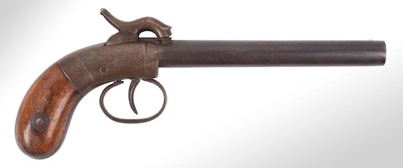 Allen & Thurber Double Barrel Single Trigger Pistol, .36-Caliber, Serial No.155, right facing