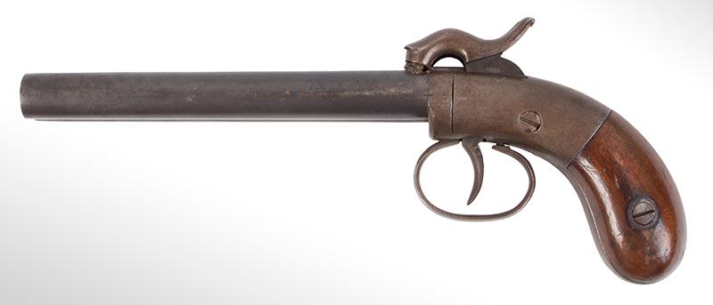 Allen & Thurber Double Barrel Single Trigger Pistol, .36-Caliber, Serial No.155, left facing
