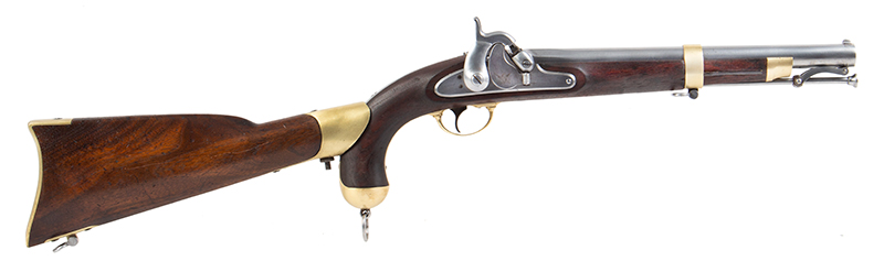 U.S. Springfield Model 1855 Pistol-Carbine with Matching Detachable Shoulder Stock, Very Good Markings & Rifling; Roll of Maynard Caps, right facing