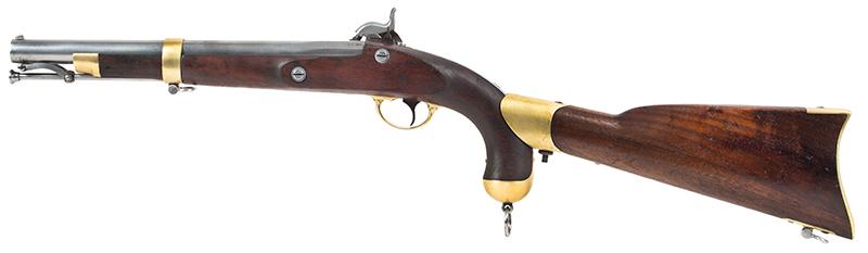 U.S. Springfield Model 1855 Pistol-Carbine with Matching Detachable Shoulder Stock, Very Good Markings & Rifling; Roll of Maynard Caps, left facing