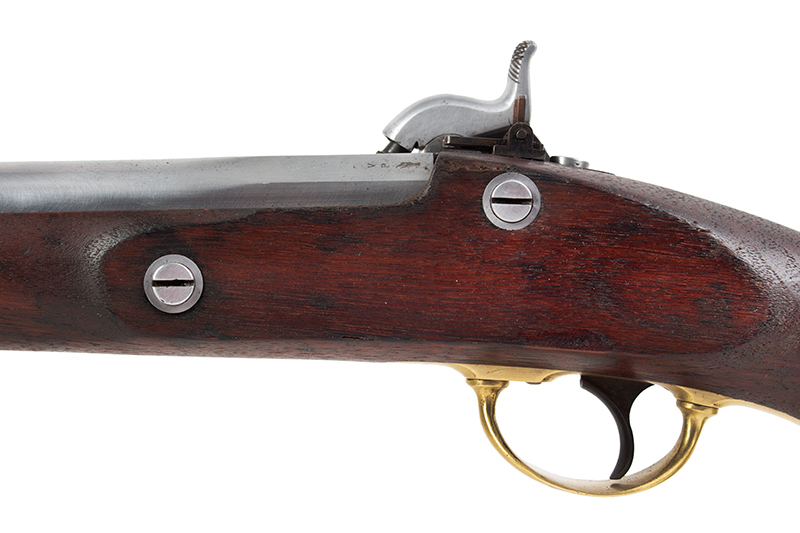 U.S. Springfield Model 1855 Pistol-Carbine with Matching Detachable Shoulder Stock, Very Good Markings & Rifling; Roll of Maynard Caps, side plate