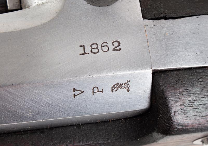 "Model 1861 U.S. Percussion Rifle-Musket, Springfield, Dated 1862 .58-Caliber Single Shot Muzzleloader, 40"" Barrel, marks"
