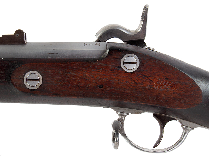 "Model 1861 U.S. Percussion Rifle-Musket, Springfield, Dated 1862 .58-Caliber Single Shot Muzzleloader, 40"" Barrel, side plate"