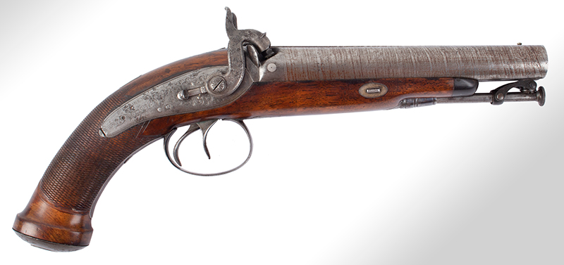 Howdah Pistol, Double Barrel, entire view 2