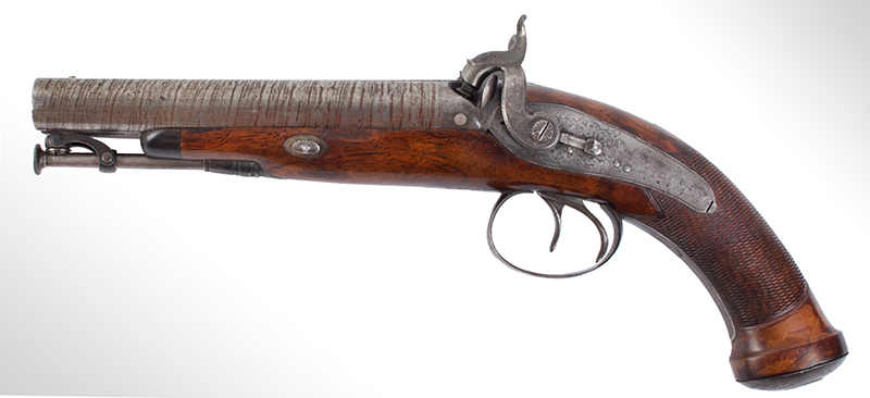 Howdah Pistol, Double Barrel, entire view 3